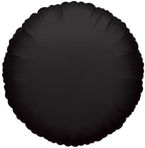 "9"" Mini Black Circles Foil Balloon Air Fill Only 1ct #34070"