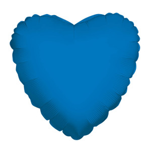 "9"" Mini Blue Heart Foil Balloon Air Fill Only 1ct #34101-09"