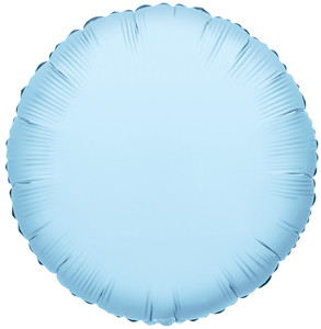 "9"" Mini Light Blue Circle Foil Balloon Air Fill Only 1ct #34050"