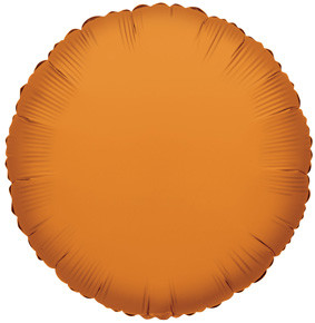 "9"" Mini Orange Circle Foil Balloon Air Fill Only 1ct #34056"