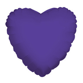 "9"" Mini Purple Hearts Foil Balloon Air Fill Only 1ct #34106-09"