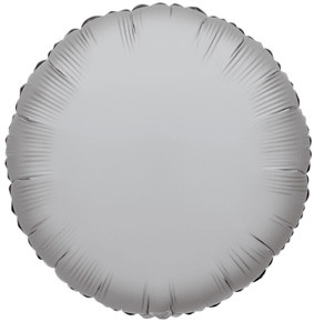"9"" Mini Silver Circle Foil Balloon Air Fill Only 1ct #34073"