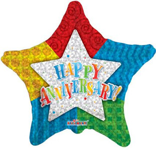 "9"" Anniversary Star Mini Air Fill Foil 1ct"