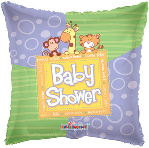 "9"" Baby Shower Square Air Fill 1ct #34341"