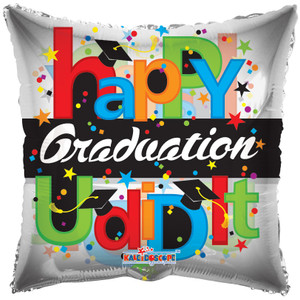 "9"" Mini Happy Graduation Balloons 1ct"