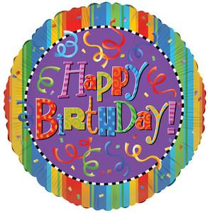 "9"" Happy Birthday Festive Air Fill 1ct"