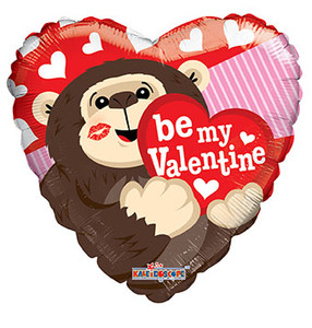 "9"" Be My Valenitne Gorilla 1ct"