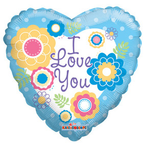 """9"""" I Love You Flowers 1ct"""