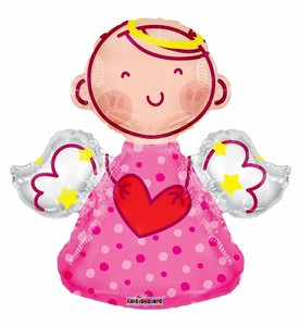 "14"" Mini Girl Angel Shape Air Fill Balloon 1ct #35278"