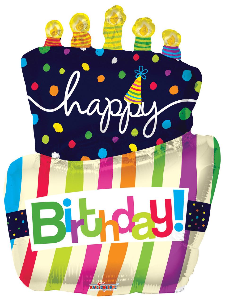 36 Jumbo Birthday Cake Balloons