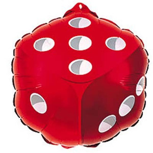 "18"" 2-sided Dice Foil Balloon #98446"