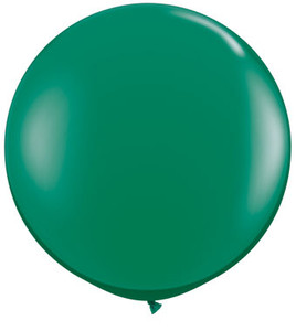 "36"" Qualatex Emerald Green Round Latex Balloons 1ct #43002"