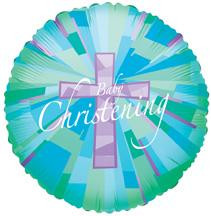 "18"" Christening Boy Holographic 1ct #17997"