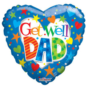 "18"" Get Well Dad Balloons 1ct"