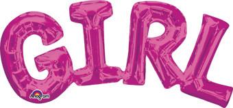 girl letter balloons