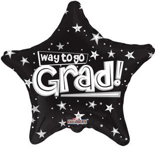 black graduation balloons