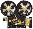 "Hollywood Balloon 32"" Lights Camera Action Helium Foil Shape Balloon 1ct"