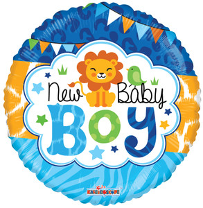 "9"" Mini New Baby Boy Air Fill Stick Balloon 1ct"