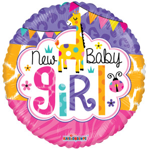 "9"" Mini New Girl Air Fill Stick Balloon 1ct"