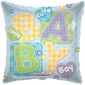 "20"" Boy Big Letters Square 1ct #17770"