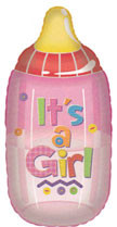 "28"" Jumbo Girl Bottle Helium Foil Balloon 1ct #17499"