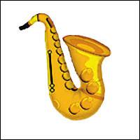 """37"""" Foil Saxophone Shape"""