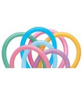 160Q Vibrant Assortment Twisting Balloons 100ct #13767