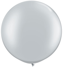 "30"" Qualatex Metallic Silver 1ct #38402"