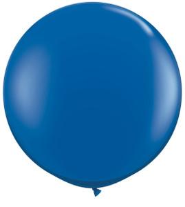 "36"" Qualatex Round Sapphire Blue Balloons 1ct #42876"