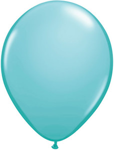 "5"" Qualatex Caribbean Blue Latex Balloons 100Bag #50319-5"