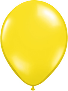 "5"" Qualatex Citrine Yellow Latex Balloons 100Bag #43551-5"