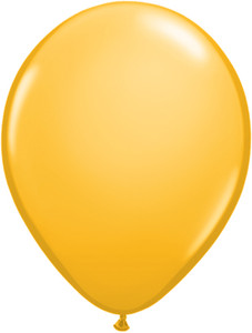 "5"" Qualatex Goldenrod Latex Balloons 100Bag"
