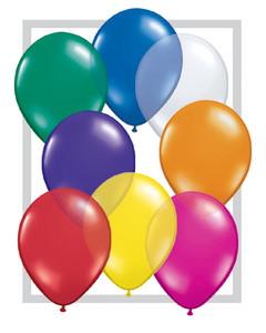 "5"" Qualatex Jewel Assortment Latex Balloons 100Bag #43563-5"