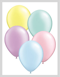 "5"" Qualatex Pearl Pastel Assortment Latex Balloons 100Bag #43566-5"