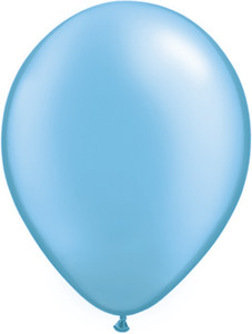 "5"" Qualatex Pearl Azure Latex Balloons 100Bag #43577-5"