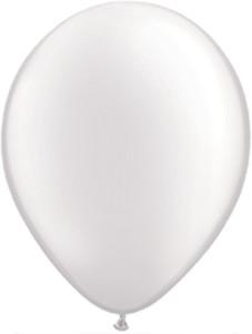"5"" Qualatex Pearl White Latex Balloons 100Bag #43597-5"