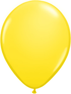 "5"" Qualatex Yellow Latex Balloons 100Bag #43609-5"