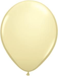 "11"" Qualatex Ivory Silk 100ct #43751"
