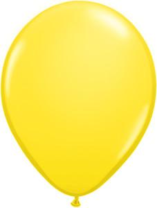"16"" Qualatex Standard Yellow 50ct"