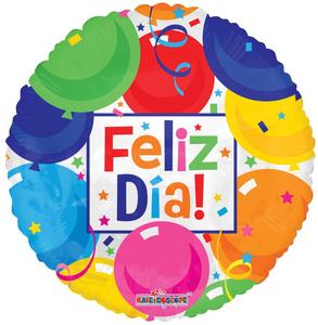 "18"" Spanish Balloons Feliz Dia 1ct #15091"