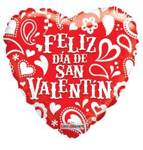 "18"" Spanish Valentine Feliz Dia de Valentin 1ct #81180"