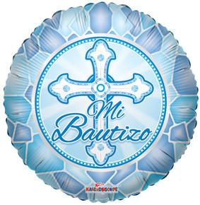 """18"""" Mi Bautizo Blue Balloons 1ct #34530"""