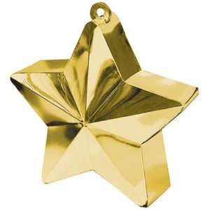 Gold Star Shape Balloon Weights 170 grams 1ct