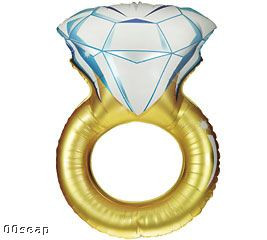 "37"" Engagement Ring Balloons #15399"