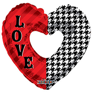 love heart shape foil balloon