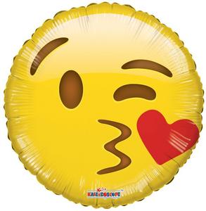 "18"" Emoji Kiss Face Smiley 1ct #35359"