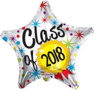 class of 2018 balloons