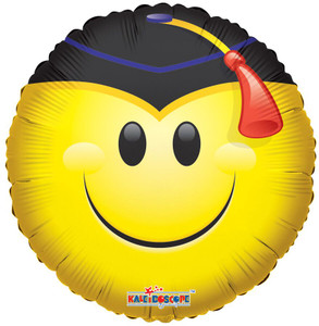 smile graduation balloon helium balloon