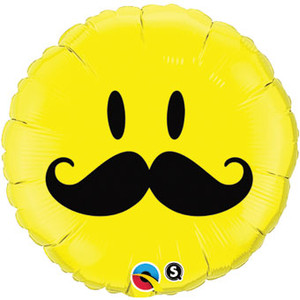 mustache balloons on smiley mustache balloons