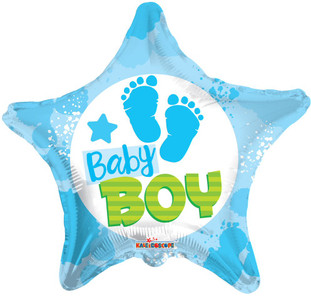 it's a boy foot print balloons
